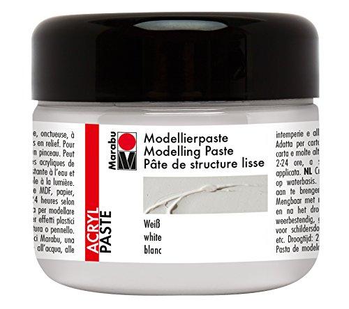 Marabu 122725070 - Modellierpaste, 225 ml, weiß