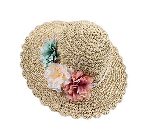 Creative Summer Straw Beach Flowers Girl Hat