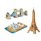 MIRC 3D Stereoscopic Mini Puzzle World Architecture Model Brain Game Child Paper Puzzle,Kita