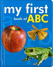 My First Book of ABC, Board book for kids, ABC books for kids with illustrations
