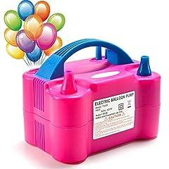 Idea Regalo - MTKD® Pompa Elettronica per Gonfiaggio Palloncini. Ideale per Feste e Cerimonie. Motore 600W Alta Potenza.- Fucsia