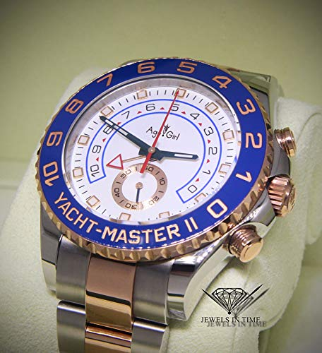 DMSGBZL Uhren New Men Automatic Mechanische Uhren Luminous Ceramic Blau Silber Grau Lünette Sapphire Rose Gold Weiß Watch Rose Gold Weiß