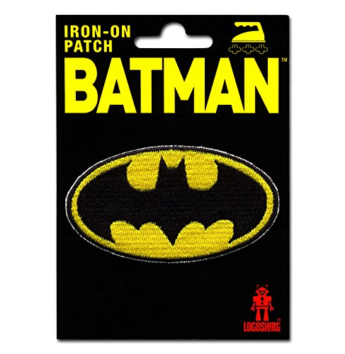 Batman Logo Aufnäher - DC Comics Patch - Superheld Aufbügler - Lizenziertes Originaldesign - LOGOSHIRT