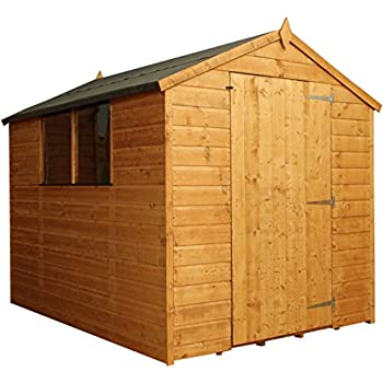 This Item 8x6 Shiplap Wooden Apex Garden Shed   Large Single Door U0026 Felt  Included   By Waltons