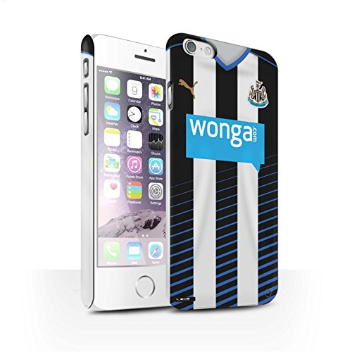 Offiziell Newcastle United FC Hülle / Matte Snap-On Case für Apple iPhone 6S / Pack 29pcs Muster / NUFC Trikot Home 15/16 Kollektion Fußballer