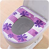 Wmshpeds Gepolsterter Toilettensitz WC-Sitzpolster Toilettensitz wasserdicht universal 2 loaded