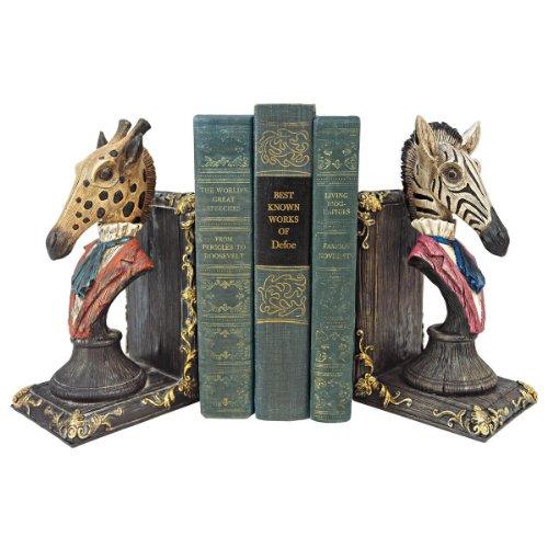 progettare-toscano-qs92460-serengeti-soiree-giraffa-e-zebra-reggilibri-due-parti