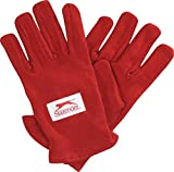 CreativeMinds UK Slazenger Cricket Handschuhe für Wicketkeeper/Vlies Innen Handschuhe, Rot, Herren