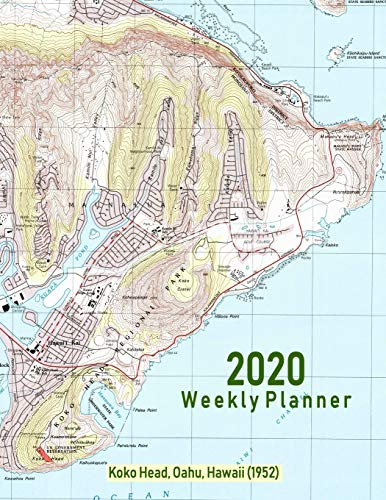 2020 Weekly Planner: Koko Head, Oahu, Hawaii (1952): Vintage Topo Map Cover