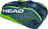 HEAD Tour Team 9R Supercombi Tennisschläger Tasche, Unisex, Tour Team 9R Supercombi, Marineblau/grün