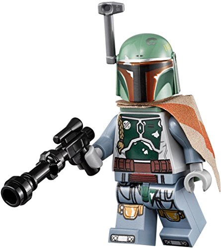 LEGO Star Wars: Minifigur Boba Fett (aus Set 75137) mit zwei GALAXYARMS Blaster