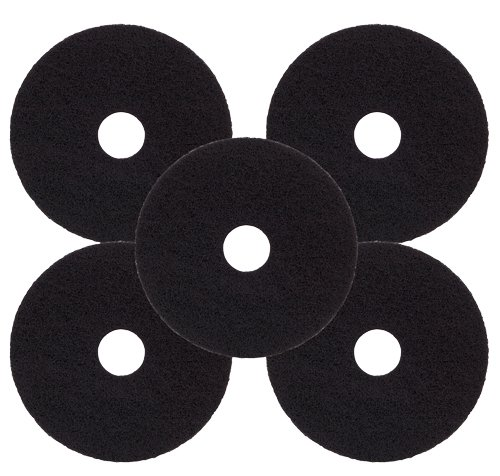 5-pack-of-38cm-15-black-floor-maintenance-pads-for-long-lasting-heavy-duty-floor-stripping