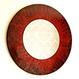 Best Red Mirrors - Hand Made Lush Red and Black Circle Glass Review