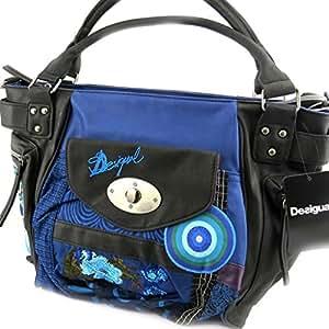 designer tasche 39 desigual 39 blau schwarz koffer rucks cke taschen. Black Bedroom Furniture Sets. Home Design Ideas