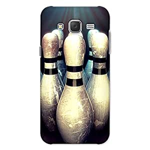 CrazyInk Premium 3D Back Cover for Samsung J7 2015 - BOWLING PINS