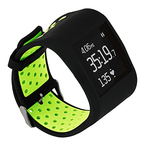 TRUMiRR Für Fitbit Surge Armband, Double Color Silikon Gummiband Schutzhülle Armband Uhrenarmband mit Strap Sport Case Rahmen für Fitbit Surge Fitness Smart Watch Superwatch