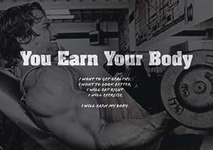 Motivation–Arnold Schwarzenegger 12–Gagner votre corps Citation–Gym–détermination–Panneau A3Poster–Citation Poster Photo, Sport, boxe, cyclisme, Athlétisme, musculation, Triathlon, basket-ball, Football, Rugby, Natation, boxe, arts martiaux, Golf, de hockey, de squash