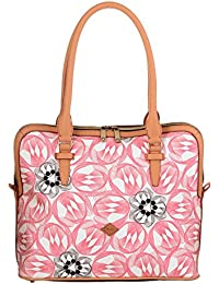 Oilily Flower Swirl M Carry All Rose Flamingo