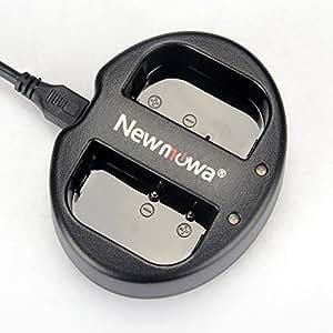 Newmowa Dual USB Charger for Panasonic DMW-BLF19 and Panasonic DMC-GH3,DMW-GH4 (DMW-BLF19 Dual USB Charger)