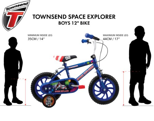 Townsend Boy's Space Explorer Bike – Blue, 3-5 Years