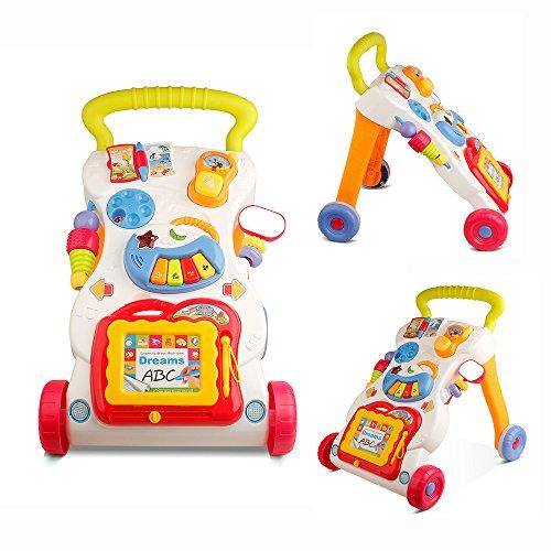 YAOBLUESEA Laufwagen Baby Walker Lauflernhilfe Lauflernwagen Piano Gehfrei Kinder Laufwagen Für Kinder