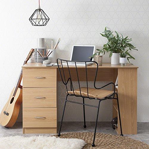 Laura James   Computer-Schreibtisch  3Schubladen   3Einlegeböden   Home Büro Tisch   Workstation Beech