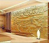 Yosot 3D Tapeten Eigenes Foto Wandbild Wohnzimmer Pferd Sand Sculpture 3D Malerei Fernseher Sofa Hintergrund Vliestapeten Für Wände 3D-350Cmx245Cm