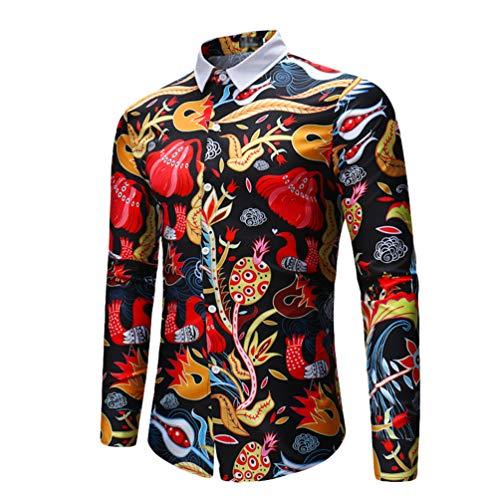 Chengyang uomo camicia slim fit manica lunga shirts elasticizzate traspiranti moda camicie camicetta stile 2 m