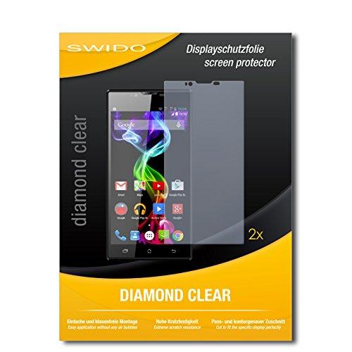 SWIDO 2 x Bildschirmschutzfolie Archos 55 Platinum Schutzfolie Folie DiamondClear unsichtbar