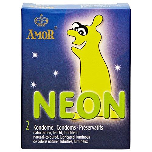 "AMOR® \""Neon\"" 10x2 Leuchtkondome"