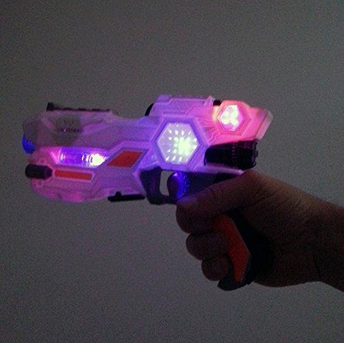 Brigamo 38923 – Sternenkrieger Set bestehend aus Space Blaster, Laserschwert mit Licht & Sound & Disc Blaster fürs Handgelenk - 3