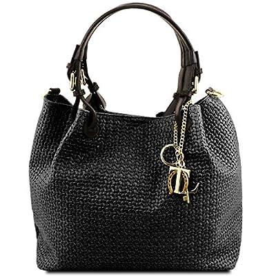 Tuscany Leather TL KeyLuck Bolso Shopping en Piel imprimida Tejida
