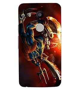 ColourCraft Lord Shiva Design Back Case Cover for LG GOOGLE NEXUS 5X