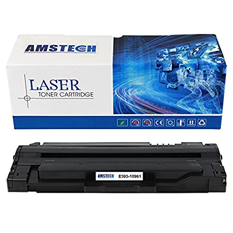 Amstech Compatible Toner Cartridge 593-10961 replacement for Dell 1130 1130N 1133 1135N, black, 2500 Pages, Compatible 593-10961