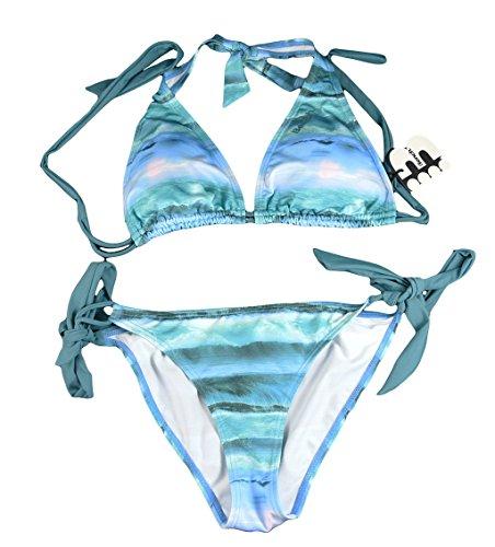 Bench Bikini Knot Waves N Raves, Multicolore Blau Small