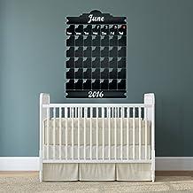 Gratis Kreiden Box Tafel Vinyl Wand Aufkleber Kalender mit Notizen//Kreidetafel Monatsplaner Aufkleber f/ür Zeichnen//radierbar Wandbild 60x 45cm