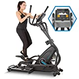 Capital Sports Helix Star MR Cross Trainer mit Trainingscomputer • Ellipsen-Heimtrainer • Bluetooth • 32 Stufen • App-Integration • 21 kg Schwungmasse • Tablet-Halterung • Pulssensor • schwarz