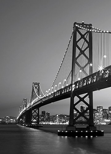 Fototapete SAN FRANCISCO SKYLINE 183x254 Golden Gate Bridge in SW, atemberaubend