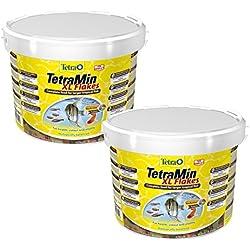 2 x 10 Liter TetraMin XL Hauptfutter Tetra Min Flockenfutter Flakes Fischfutter