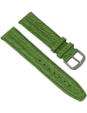 Ersatzband Uhrenarmband Leder Band Grün 20mm passend zu Jacques Lemans JL-06Gruen20S