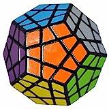 Coolzon 3x3 Megaminx Cubo Magico Rompecabezas Dodecaedro Speed Magic Cube Juego de Puzzle Cube 40mm,Negro
