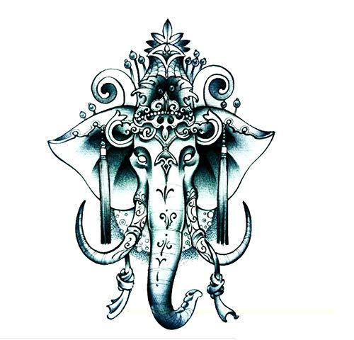 ruofengpuzi 3 Stück Indischer Elefant Gott Temporäre Tätowierung-Aufkleber-Temporäre Körper-Kunst-Tätowierung Art Und Weise O Schönheit Mode Sexy Tattoo Gefälschte Produkte