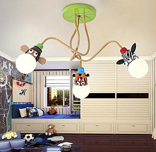 Kinderzimmer Schlafzimmer Deckenleuchte Lampe junge Mädchen kreative Persönlichkeit Cartoon Tier Lampe kleines Schlafzimmer 45 * 75 cm, 3 Led (3-tier-kristall-kronleuchter)