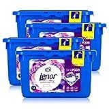 Lenor 3in1 Pods Strahlendes Blütenbouquet Color Waschmittel - 14 WL (4er Pack)