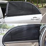 1paio di tende parasole nere per finestrini auto Basong, retine parasole per finestrini di portiere laterali posterior, copertura per bambini e animali