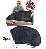 2Stück Auto-Sonnenschutzfolie, Universal Autoseitenfenster, Sonnenschatten, Premium Qualität Auto Zubehör–Schützen Sie Ihr Baby und Privatsphäre von außen.
