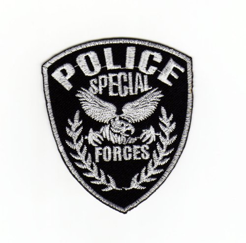 Aufnäher Bügelbild Aufbügler Iron on Patches Applikation Uniform US Police Special Forces Polizei Abzeichen Bügelbild (Swat Army Kostüm)