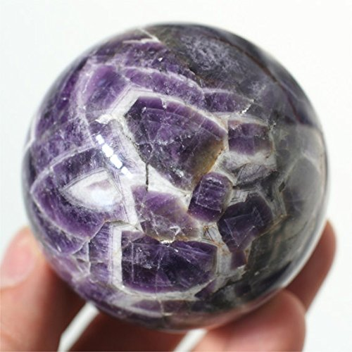 Kala Emporium Améthyste Boule amétrine Cristal Violet Jaune Naturel mosaïque Guérison Sphère 6,1 cm