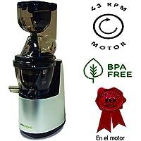 Juissen último modelo extractor zumo verde prensado en frio COLD PRESS Licuadora Exprimidor naranjas frutas Boca ancha 8cm - Libre PVC - BPA FREE - Garantía ...