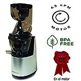 Juissen extractor zumos verdes último modelo Licuadora prensado en frio COLD PRESS Exprimidor naranjas frutas Boca ancha 8cm - Libre PVC - BPA FREE - Garantía motor de 10 años – REGALO 3 EBOOKS con recetas + kit tofu